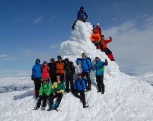 Elever på fjelltur