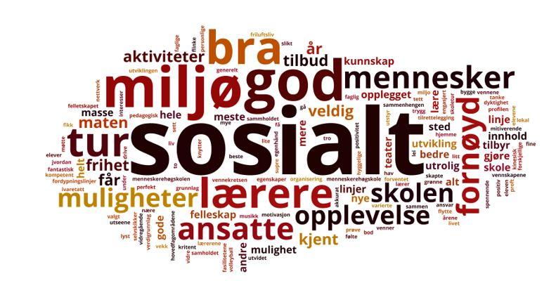 Analysebyrået EPSI har spurt norske folkehøgskoleelever hvorfor de er så fornøyde med å gå på folkehøgskole og det sosiale var det som ble trukket fram av mange.